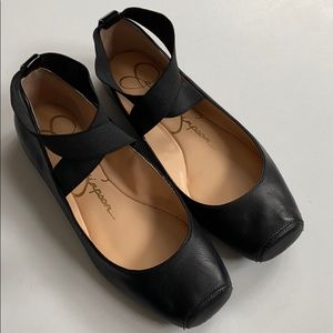 Jessica Simpson leather flats
